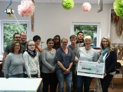 Schneiderei der Jugendwerkstatt erstrahlt in neuem Licht dank der Firma DOTLUX GmbH