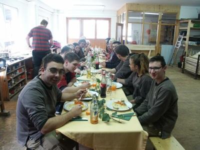 Werkstatt-Essen bei den Forstwirten