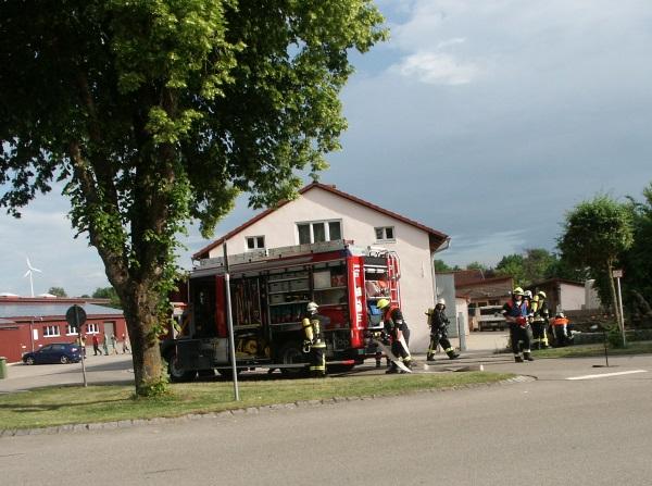 Brandschutzübung mit der FFW Langenaltheim